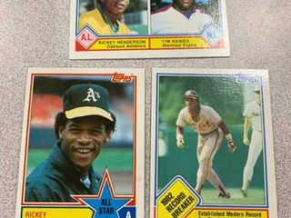 3 Rickey Henderson Cards 1983 Topps  2  391  704