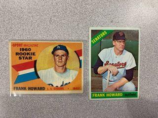 2 Cards 1960 Topps  132 Frank Howard RC  1966 Topps  515