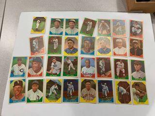 lot of 30 Cards 1960 Fleer Jimmy Foxx  Christy Matthewson  Bob Feller  Mel Ott   More  EXCEllENT CONDITION