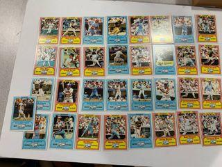 Oddball Advertising Set 1981 Drake s Big Hitters  Topps  33 Card Set