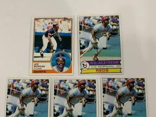 5 Card Joe Morgan lot 1979 Topps  20  x4  1983 Topps  603