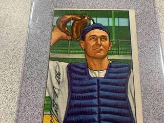 1952 Bowman  216 Matthew Matt Batts Detroit Tigers baseball card