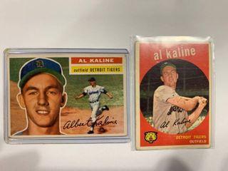 1954 Topps  20 Al Kaline RC  1959 Topps  360 Al Kaline