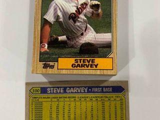 Investment lot of 50 1987 Topps  100 Steve Garvey Cards