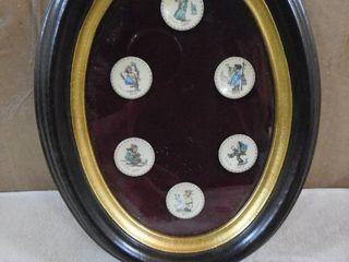 1971 1976 mini Hummel plates in frame
