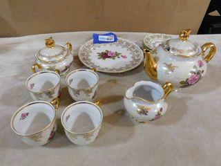 Czech Republic Atelier Karlsbad original tea set 11 piece set one cup has chip see pics