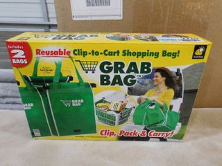 Grab bag reusable clip to cart shopping bag