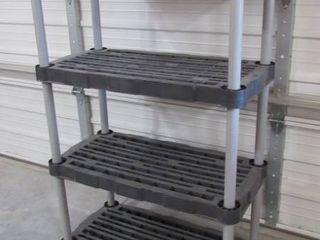 Rubbermaid 4 tier shelf 36  W x 55  H x 18  D