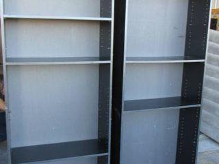 2 Black Bookshelves w  adjustable shelves 30  W x 72  H x 12