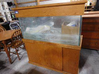 large aquarium believe to be 55 gal  56in H X 52in W X 20 1 2in D