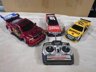 3 collectible race car memorabilia w  unknown remote