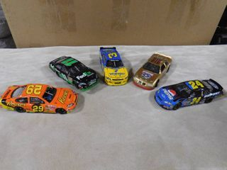 5 collectible race car memorabilia