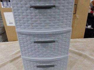Plastic 3 drawer storage tower