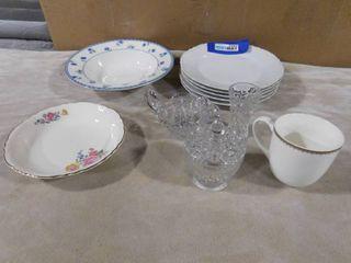 11 piece misc  glassware