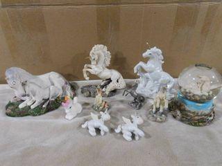 lot of unicorn figurines