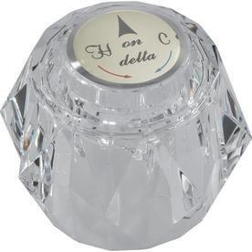 Delta Fauce Single Clear Knob Handle Kit w  Button   Set Screw