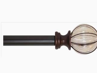 allen   roth Drapery Rod Set w  lantern Glass Finials