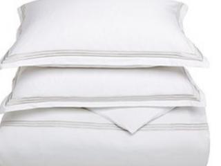 Echelon Home Three line Hotel Collection Cotton Sateen Euro Shams   Set of 2