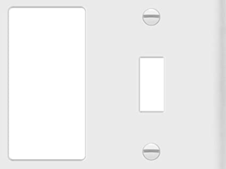 Hubbell Midsize Durable Nylon Flush Device Cover Plate