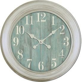 Nautical Wood Grain Analog Round Indoor Wall Clock