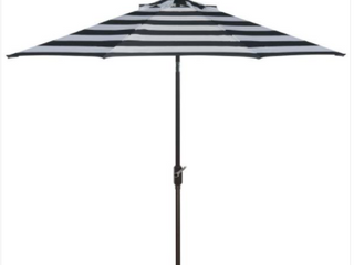 Black  amp  White Strips Umbrella