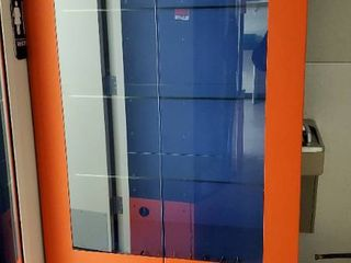 Orange Display Cabinet  No Keys