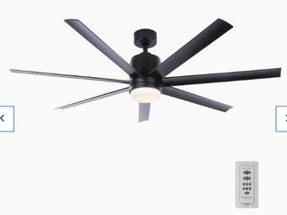 Fanimation Studio Collection Blitz 56in Matte Black led Indoor Fan