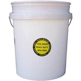 3 Encore Plastics 5 Gallon Food Grade Plastic Bucket