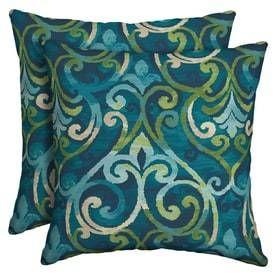 Garden Treasures 2 Pack Salito Marine Paisley Square Throw Pillow