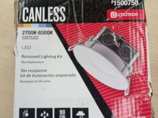Canless lED Recessed lighting Kit Fits Openings of 4 3 inches