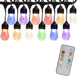 Portfolio 24 ft 12 light Color Changing Shade lED Plug in Bulbs String lights