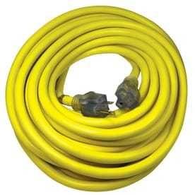 Utilitech Pro 50 ft 20 Amp 125 Volt 10 Gauge Yellow Outdoor Generator Cord