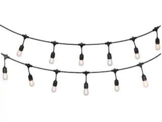 Portfolio Commercial Grade 12 light led Cafe String light Set Outdoor Indoor