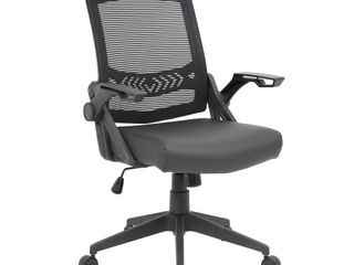 Mesh Flip Arm Task Chair Black   Boss Office Products