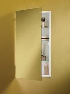 Jensen 869P24WHG Specialty Flush Mount Single Door Recessed Mount Medicine Cabinet