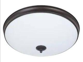 Good Earth lighting legacy 19 in Bronze Traditional Flush Mount light ENERGY STAR