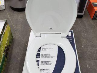 White Round Toilet Seat