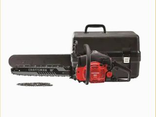CRAFTSMAN S180 18 in 42 cc 2 Cycle Gas Chainsaw  Has Compression