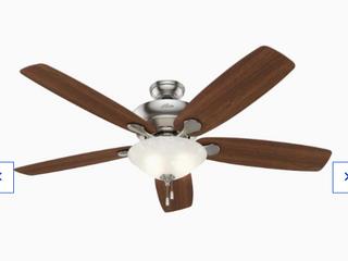Hunter Regalia Ii 60  Brushed Nickel led Indoor Ceiling Fan Missing Glass