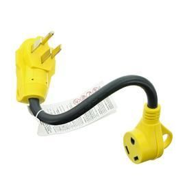 Road   Home 15 Amp 125 Volt Black 4 Wire Grounding Connector