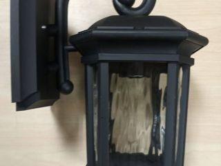 Quoizel Corrigan 10 75 in H Matte Black Medium Base  e 26  Outdoor Wall light