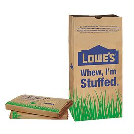 lowe s 30 Gallon Heavy Duty Brown Paper lawn and Refuse Bags for Home and Garden  10 Count
