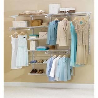 Rubbermaid 2060338 4  to 8  White Deluxe Closet Kit