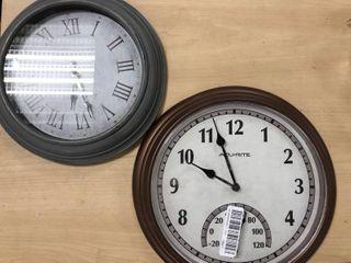 lot Of Two Wall Clocks