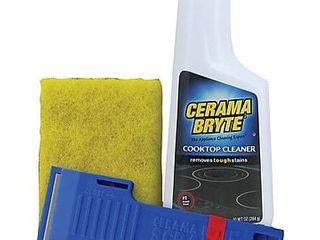 Cerama Bryte 27068 Cooktop Cleaning Kit  10 ounce bottle of Cerama Bryte Cooktop Cleaner  1 cleaning pad and 1 scraper