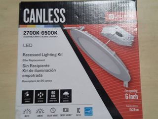 Utilitech White Canless led Recessed lighting Kit  Fits Openings 6  Wide