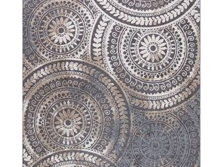 Home Decorators Collection Spiral Medallion Cool Gray Tones 8 ft  x 10 ft  Area Rug