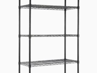 MZG 5 Tier Black Wire Shelf Unit