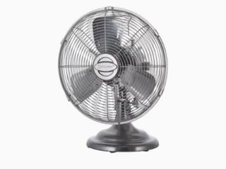 Kool flo Metal Retro Oscillating 12 inch 3 speed Indoor Desk Fan