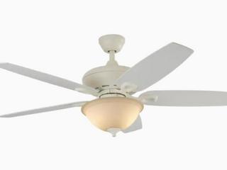 Harbor Breeze Coastal Creek 52  White Indoor Ceiling Fan W light  Missing Glass